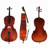 4 4 Cello Gloss Finish Basswood Face Board With Bow Rosin Carrying Bag For Music Lovers