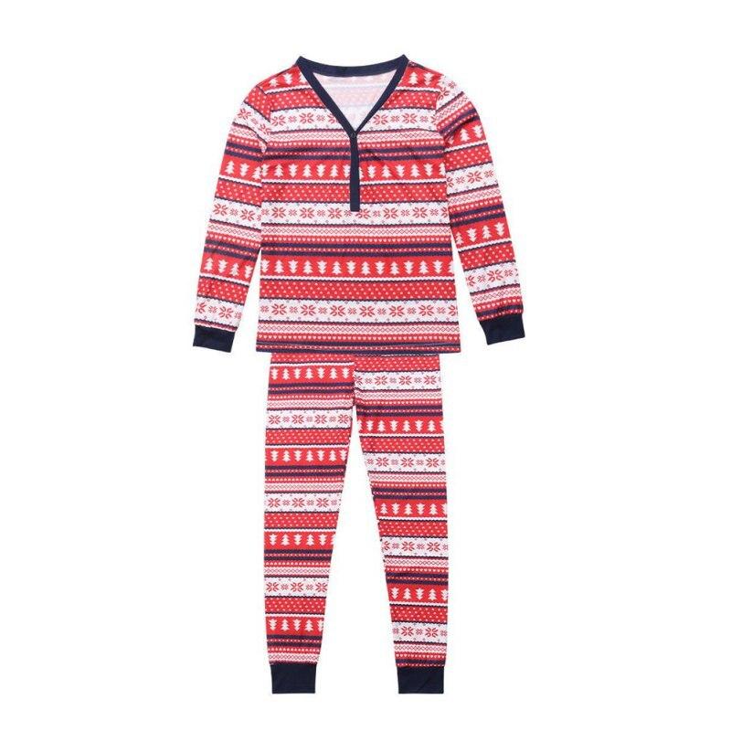 Famille correspondant noël à manches longues pyjamas ensembles femmes hommes bébé enfants famille noël arbres imprimé vêtements ensembles - 3