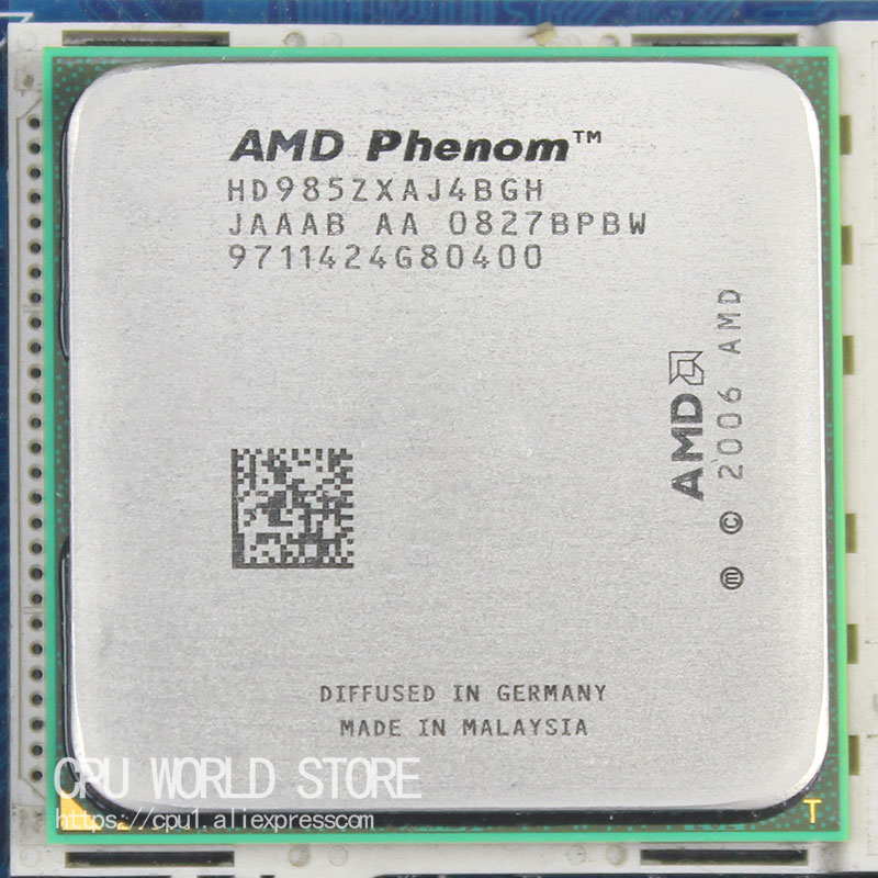 Original AMD CPU Phenom X4 9850 Processor 2.5G K10 Socket AM2+/ 940 Pin /Dual-CORE / 2MB L3 Cache 125 W