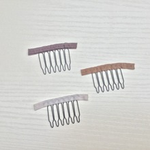 Wig Accessories,Hair Wig Cap Combs and Clips For Wig Cap,3 Colors,Light brown,purple brown,White,6 teeth30pcs/Lot,Free shipping