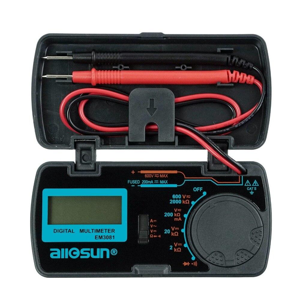 All-sol EM3081 EM3082 3 1/2 1999 Baixa Indicação Da Bateria Proteção da Sobrecarga Multímetro Digital MULTÍMETRO Testador Automotivo