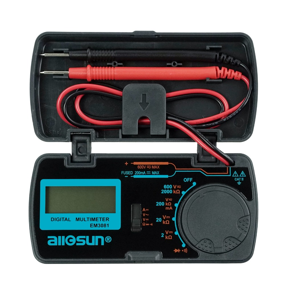 all-sun EM3081 EM3082 digitale multimeter 3 1/2 1999 Indicatie bijna lege batterij Overbelastingsbeveiliging MULTIMETER Automotive-tester