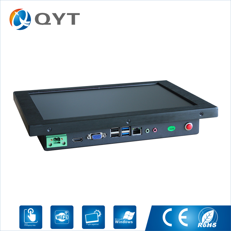 12 inch Embedded Industrial Panel Pc intel i3 6100U 2.3GHz 4GB RAM All In One Touch Screen Pc With VGA 2*RS232 4*USB RJ45