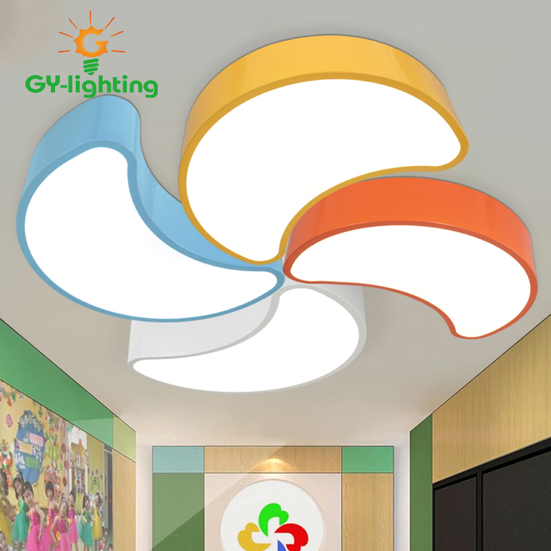 Creative Flower LED Ceiling Lights DIY Children's room light Bedroom shop lanterna colorful Moon Lamps Home Lighting creative star moon lampshade ceiling light 85 265v 24w led child baby room ceiling lamps foyer bedroom decoration lights