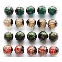 Free Shipping 12mm Japan Glass Cord Loose Beads Fit European Murano Glass Beads Jewelry Bracelet Charms