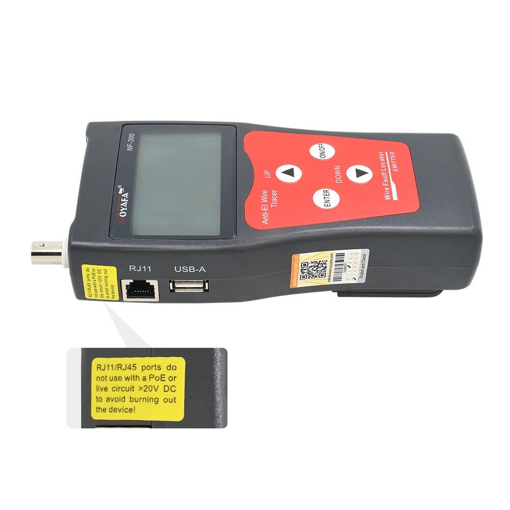 Noyafa NF-300 Lan testeur RJ45 BNC USB RJ11 téléphone réseau câble testeur fil Tracker Anti-interférence réseau outil de sertissage - 5