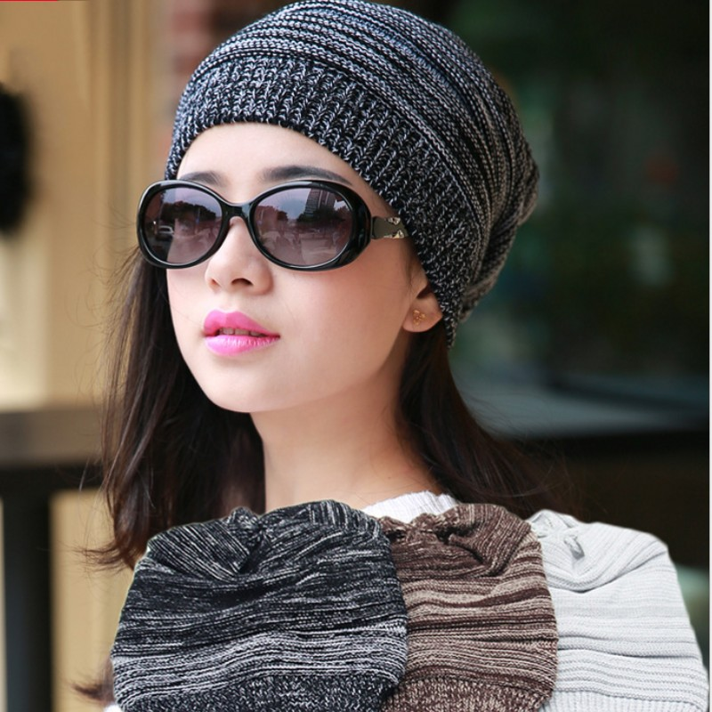 women knitting beanie hat knit hat cable knit cap Hand Knit Slouchy Beanie Hat Acrylic blend