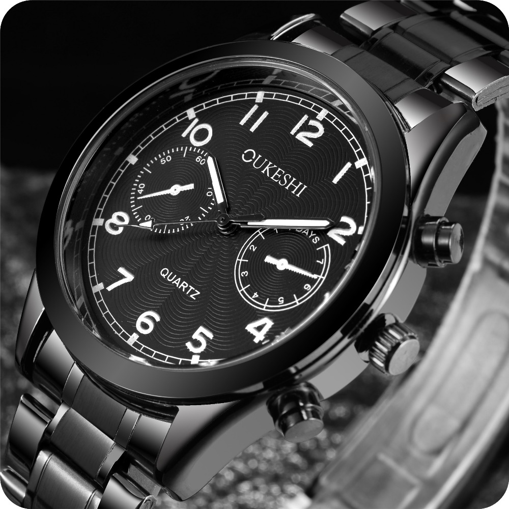 OUKESHI Men mens watches top brand luxury waterproof quartz stainless steel watch Business reloj hombre Watch Men Clock Male eyki top brand men watches casual quartz wrist watches business stainless steel wristwatch for men and women male reloj clock