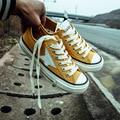 Ventas El Envío libre 2017 nueva primavera moda mujeres zapatos planos ocasionales de lona Retro estrella zapatos de las mujeres ocasionales