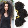 7A Brazilian Kinky Curly Virgin Hair 3 pcs lot Afro Curl Human Hair Weave Natural Black Color Brazilian Curl Virgin Hair