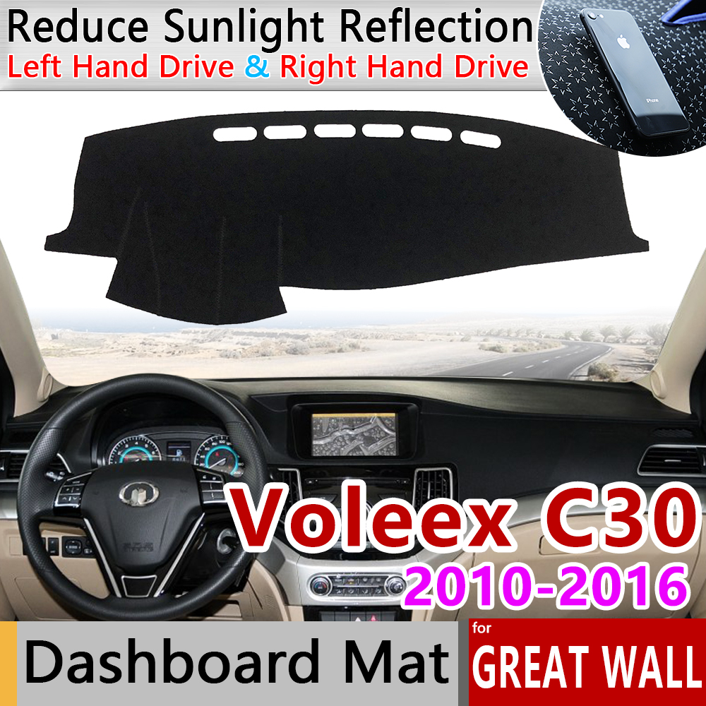 For Great Wall Voleex C30 2010~2016 Anti-Slip Mat Dashboard Cover Pad Sunshade Dashmat Carpet Accessories GreatWall 2014 2015
