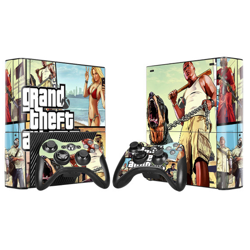 גניבת גניבת רכב 5 GTA 5 ויניל עור מדבקה עבור Microsoft Xbox 360 E סלים קונסולת בקר Controle עבור x box 360 SLIM E Decal