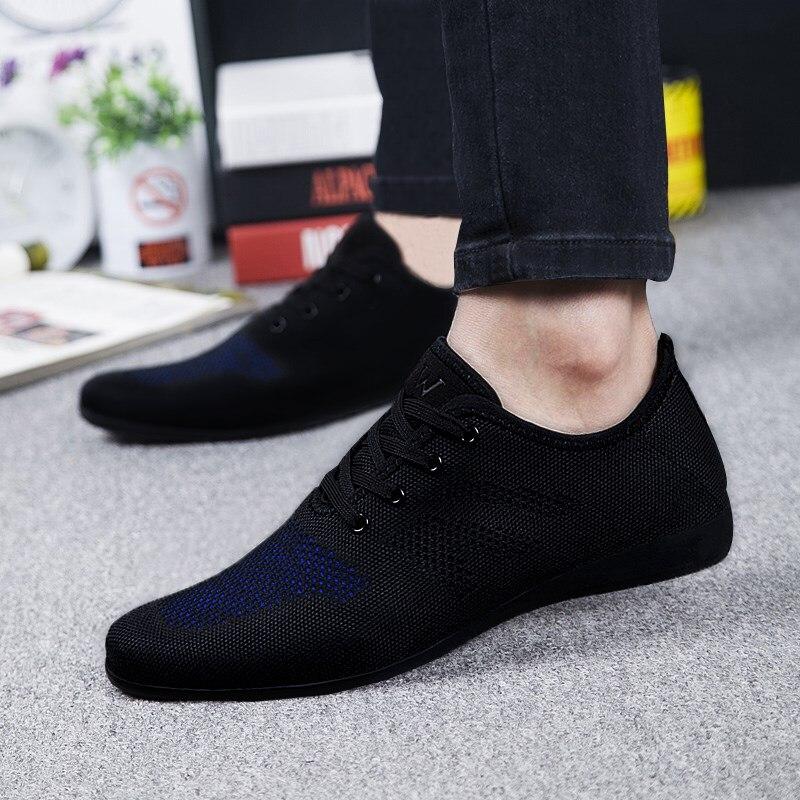 Été chaud hommes chaussures respirant hommes chaussures décontractées à lacets bas maille hommes chaussures confortables chaussures plates pour hommes Zapatillas Hombre