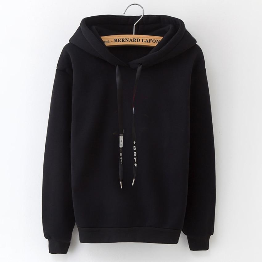 HTB1jGUjATJYBeNjy1zeq6yhzVXa0 - Hoodies Women 2018 Brand Female Long Sleeve Solid Color Hooded Sweatshirt Hoodie Tracksuit Sweat Coat Casual Sportswear S-3XL