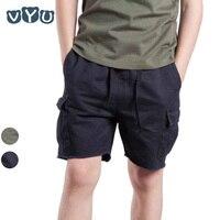 VYU Chłopiec multi-pocket Spodenki Lato Bawełna 3-12 Lat Dzieci Spodenki Moda Casual Solid Black/armii zielone Spodnie Dla Dzieci