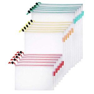 Image 3 - 15 шт., многоразовые сетчатые мешки для хранения продуктов