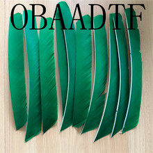 50pcs Green Full Length Real Turkey Feather For Archery Hunting And Shooting Arrow Fletching Clearance Wholesale