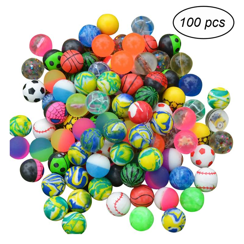 100pcs High Quality Funny Toy Balls Child Elastic Rubber Bounce Bouncy Ball Children Kids Party Favor Gift Toy