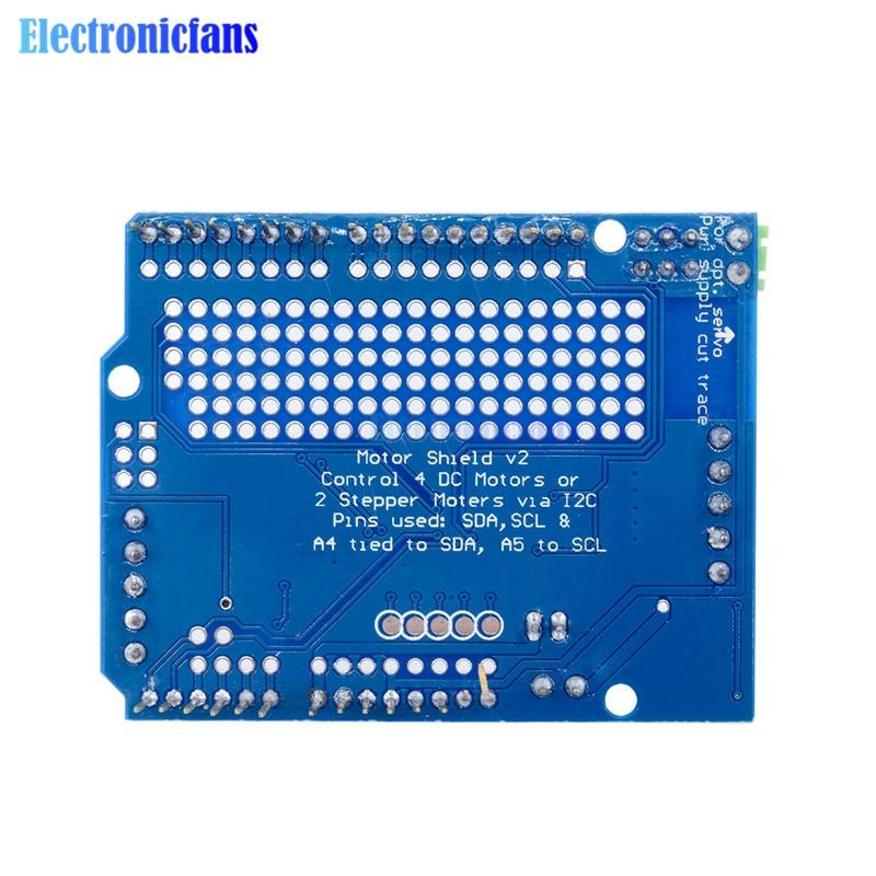 Стандартный IIC IEC TB6612 Mosfet шаговый двигатель PCA9685 ШИМ сервопривод щит V2 для Arduino робот ШИМ Uno Mega R3 Замена L293D