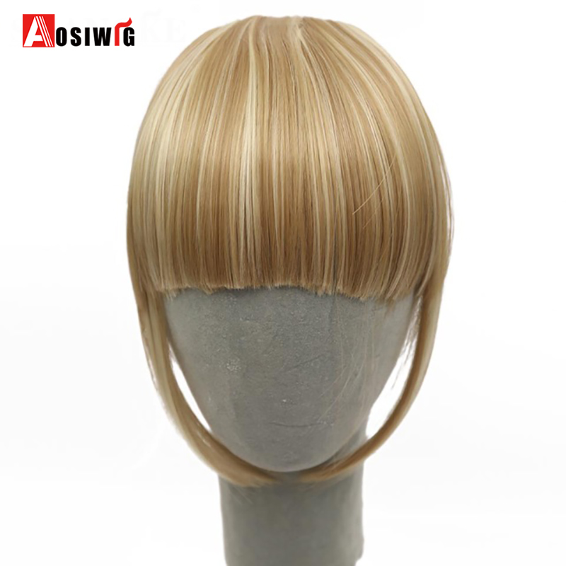 AOSIWIG Fringe Clips Bangs Clip In Hair Extensions Fake Bangs - Syntetiskt hår - Foto 1