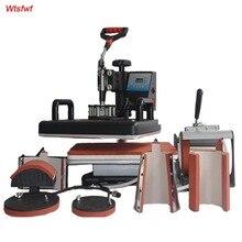 Wtsfwf Nouveau 30*38 CM 7 en 1 Combo Presse de La Chaleur Imprimante Machine Imprimante à Transfert Par Sublimation pour Cap Tasse plaques T-shirts