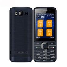 SERVO V9500 cuatro Quad SIM tarjetas 4 tarjetas sim 4 en espera individual cámara de 2.8 pulgadas linterna mp3 radio FM GPRS celular móvil teléfono P283