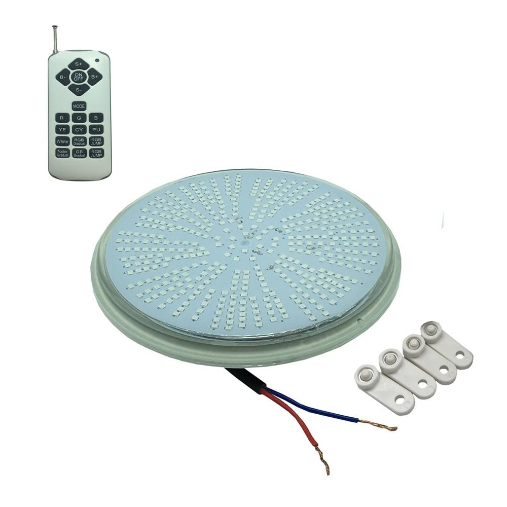 LED Pool Bulb 36W Resin Filled Light AC12V Spot Piscine LED Couleur RGB PAR 56 Projector+FB Remote Synchronous Warm Cool White