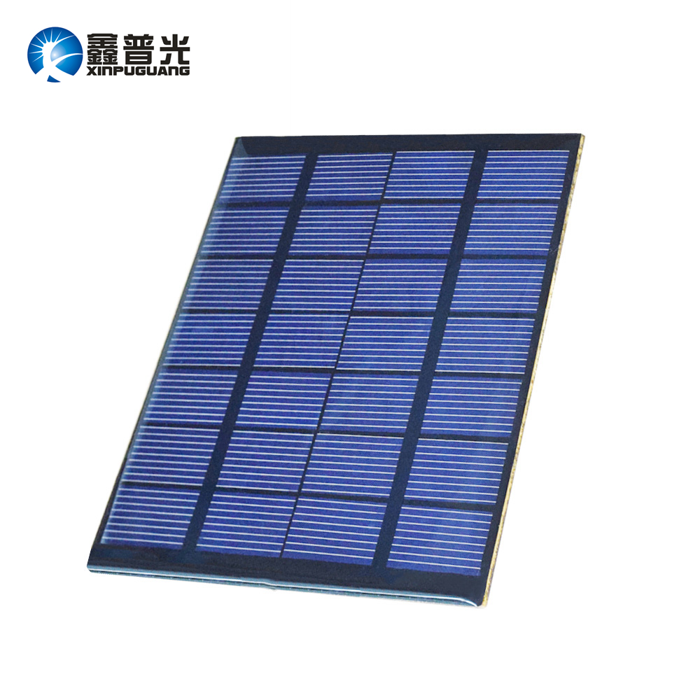 Xinpuguang 1.5W 7V epoxy resin DIY module mini cell solar panel 110*110mm for kits toys lights motor pump battery power