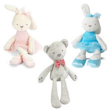 42cm Long Kawaii Soft Bunny Rabbit Toy Plush Baby Toys Brinquedos 6 Color Pillow Baby Girl Boy Kid Pets