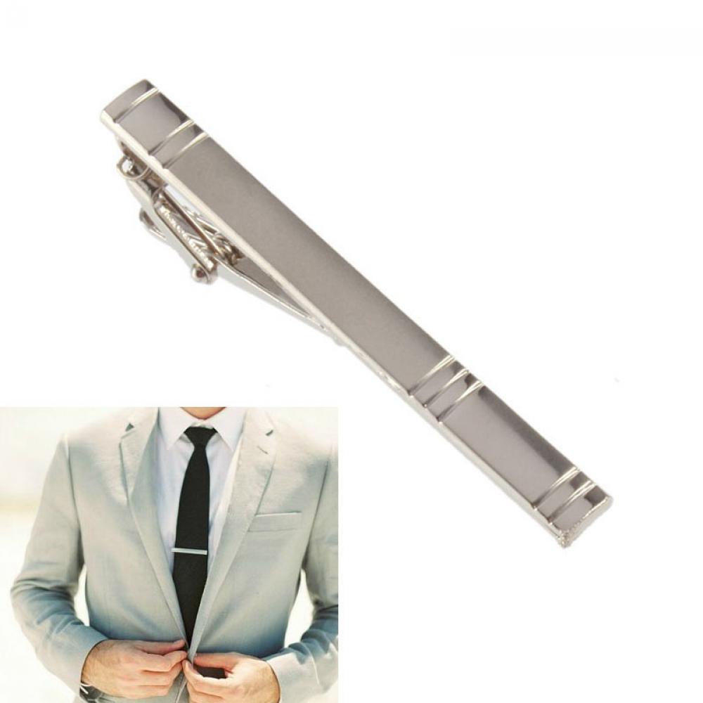 New Boy Trendy Plain Gentleman Men Classic Simple Bar Necktie Clip Tie Clasp FR