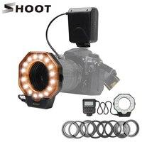 SHOOT XT 103C Macro LED Ring Flash Light Speedlight for Canon 6D 7D Nikon D750 Sony Hotshoe Olympus Panasonic Pentax DSLR Camera