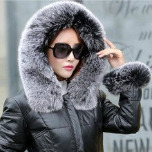 winter duck down jacket women long coat parkas thickening Female Warm Clothes Large fox fur Natural fur collar High Quality 4XL