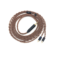 LZ MMCX 0 78mm 2 Pin 8 Core 6N Single Crystal Copper Audiophile Earphones IEMs Upgrade