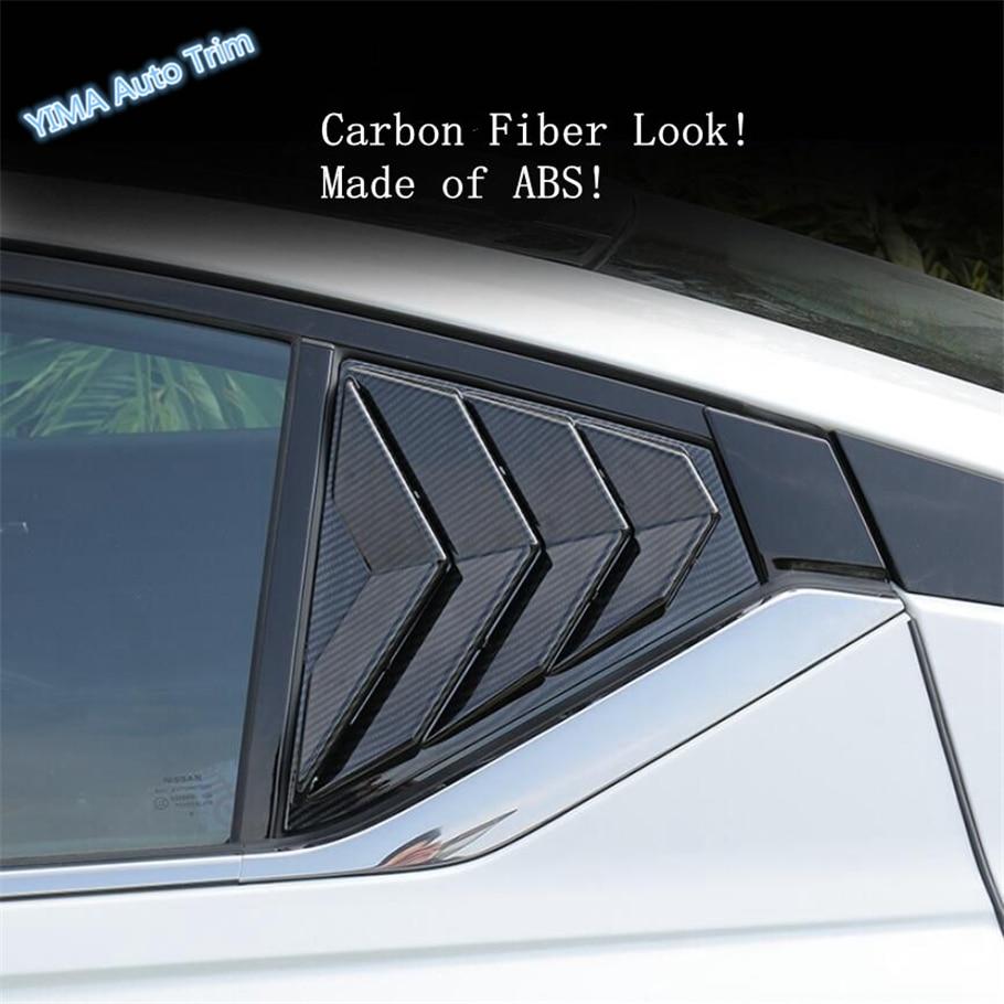 Lapetus Auto estilismo fuera de la ventana trasera rejillas de ventilación decoración de cucharas cubierta de triángulo para Nissan Altima Teana 2019 2020 ABS-in Estilo cromado from Automóviles y motocicletas