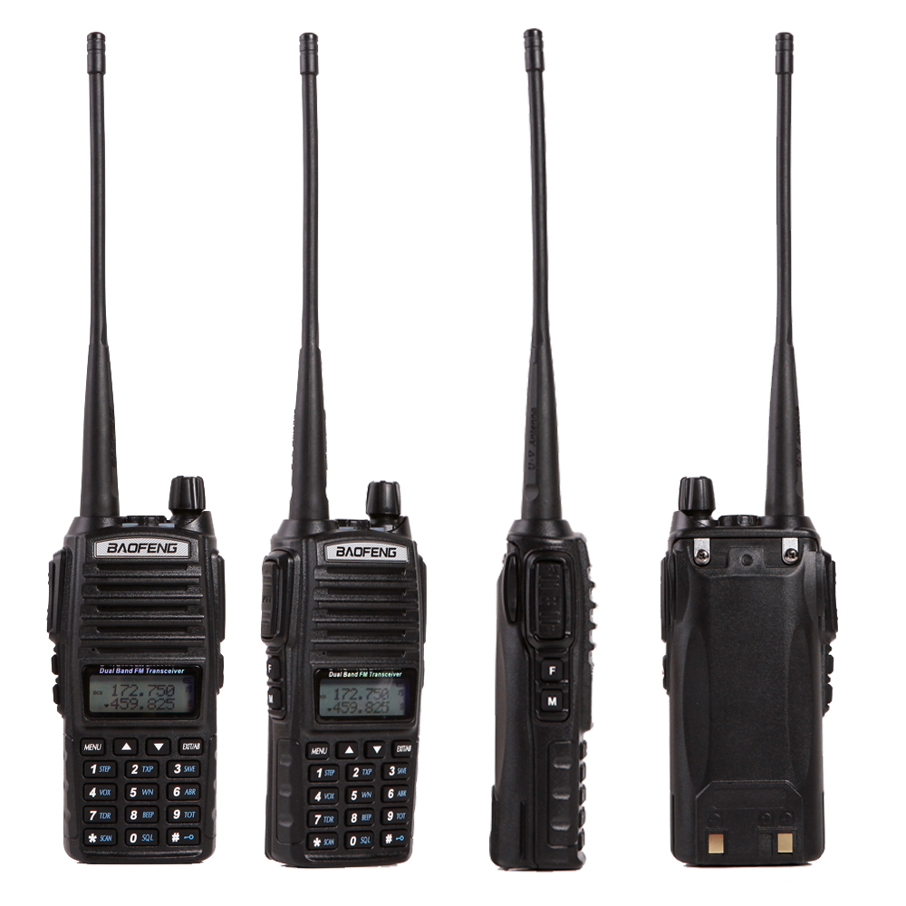 Baofeng UV 82 Walkie Talkie Handheld Dual Band VHF UHF 136 174MHz 400 520MHz With Double
