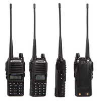 Baofeng UV 82 Walkie Talkie Handheld Dual Band VHF&UHF 136 174MHz&400 520MHz With Double PTT Button Two Way Radio New Design