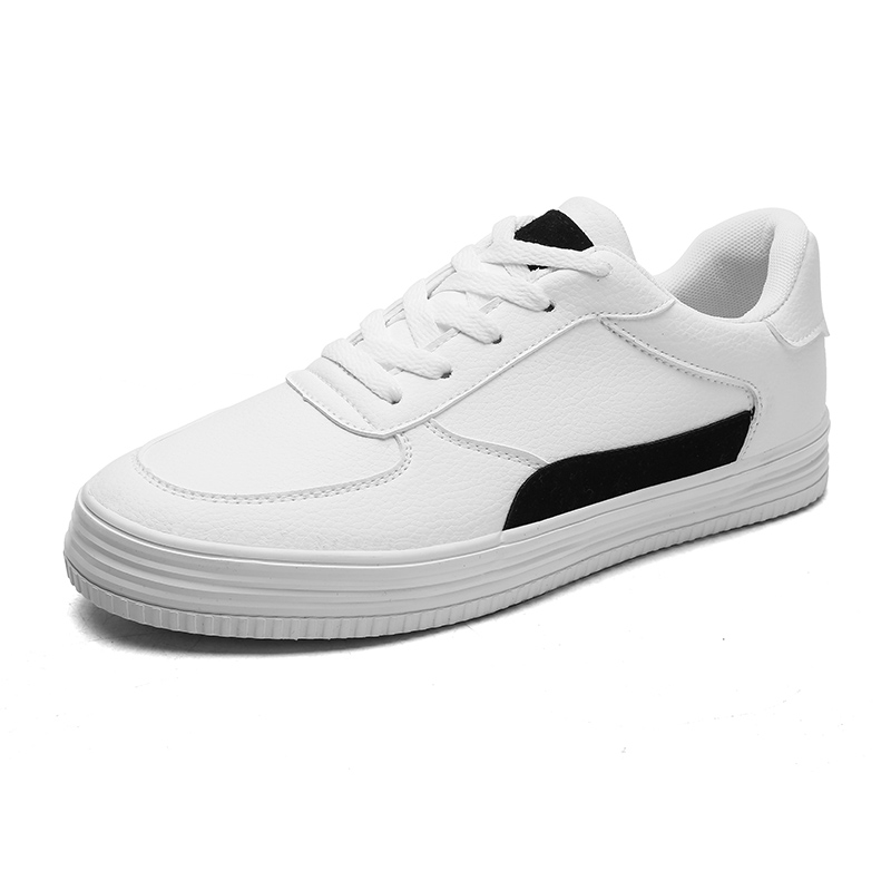 2019 Spring White Shoes Men Casual Shoes Male Sneakers White Cool Street Fashion Men Shoes Brand Man Leather Footwear(China)