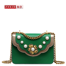 ZOOLERGenuine Leather Messenger Bags Famous Brand Women Shoulder Bags Envelope Women Clutch Bags Small Crossbody bags#ZF-1903