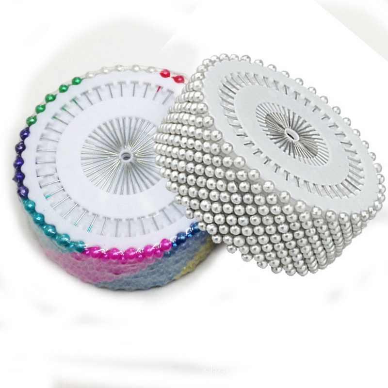 36ミリメートル960ピースホワイト&カラフルな丸頭装飾洋裁人造ストレートヘッド真珠縫製ピンdiy工芸ツールアクセサリー
