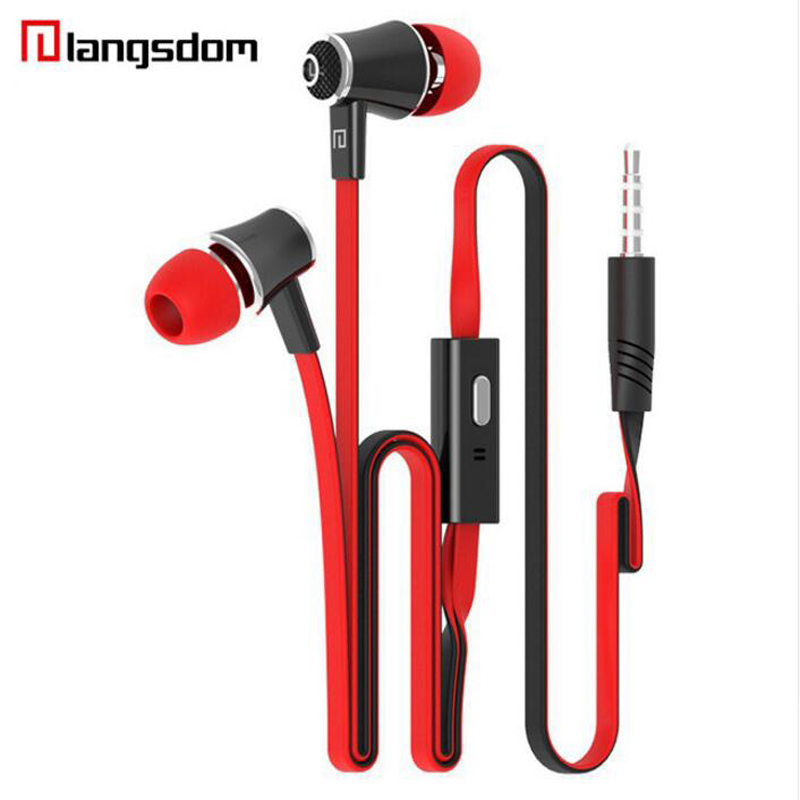Langsdom JM21 Earphones Hifi 3.5mm in-ear earphone Sport Colorful Earbuds Super Bass Headset with Microphone for iPhone G6-014