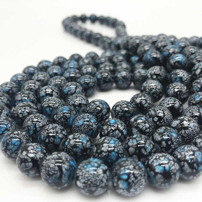 Wholesale 6 8 10 mm Glass Loose Spacer Charm Beads Pattern Making Bracelet Necklace Jewelry #05