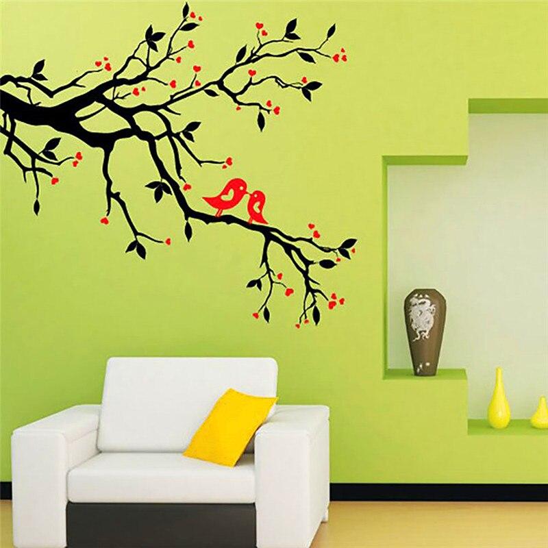DIY Tree Bird Print Nursery Wall Stickers Wall Decor Paper Sticker ...