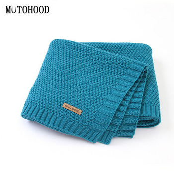 MOTOHOOD Kids Blanket Casual Baby Blankets Knitted Newborn Swaddle Wrap Soft Toddler Sofa Crib Quilt Baby Stroller Blanket