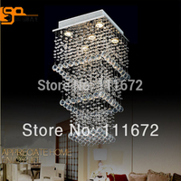 New Modern Luxury Fashion Three Layers Square K9 Crystal Chandelier For Home Light Modern Lamp