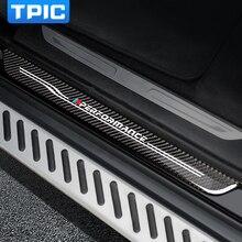 Аксессуары, накладки на пороги, защитные накладки из углеродного волокна для BMW F10 F30 F34 E70 X1 X5 X6, автомобильный стиль