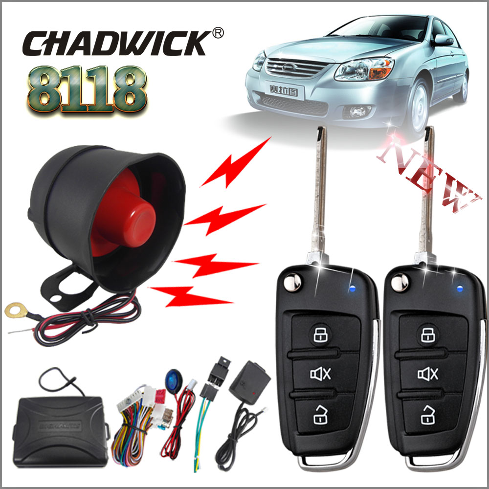 One Way Auto >> Us 40 72 10 Off Chadwick 8118 For Kia Cerato 15 Flip Key Car Alarm System Universal With Siren One Way Auto Security Keyless Entry Anti Theft In