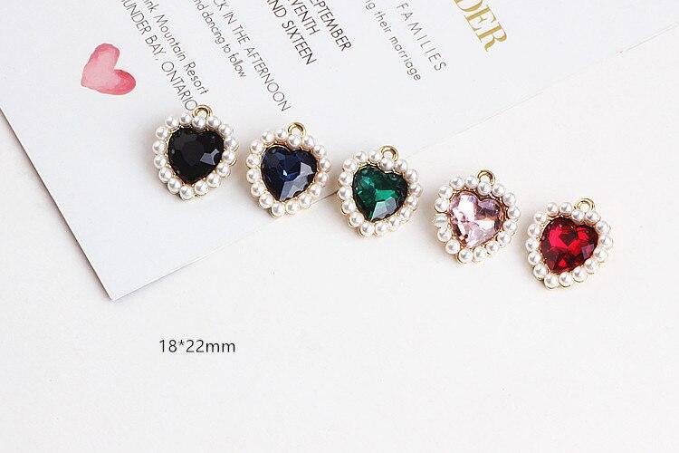 DIY аксессуары ювелирные изделия ручной работы любовь алмаз жемчужный пояс Висячие серьги колье кулон браслет материал