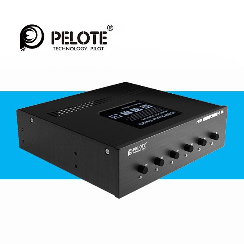 PELOTE HD-PW6102 switcher seletor de Controle Interruptor De Alimentação HDD disco rígido sata Para O Desktop PC computador CD-ROM Espaço Slot