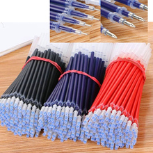 50 sticks / set of a lot of office neutral pen red black ink refill 0.5mm blue ink stationery gel pen writing school tool gift business gel pen 0 7 mm black blue red ink refill gel ink pens office school writing supplies promotional gift neutral pen