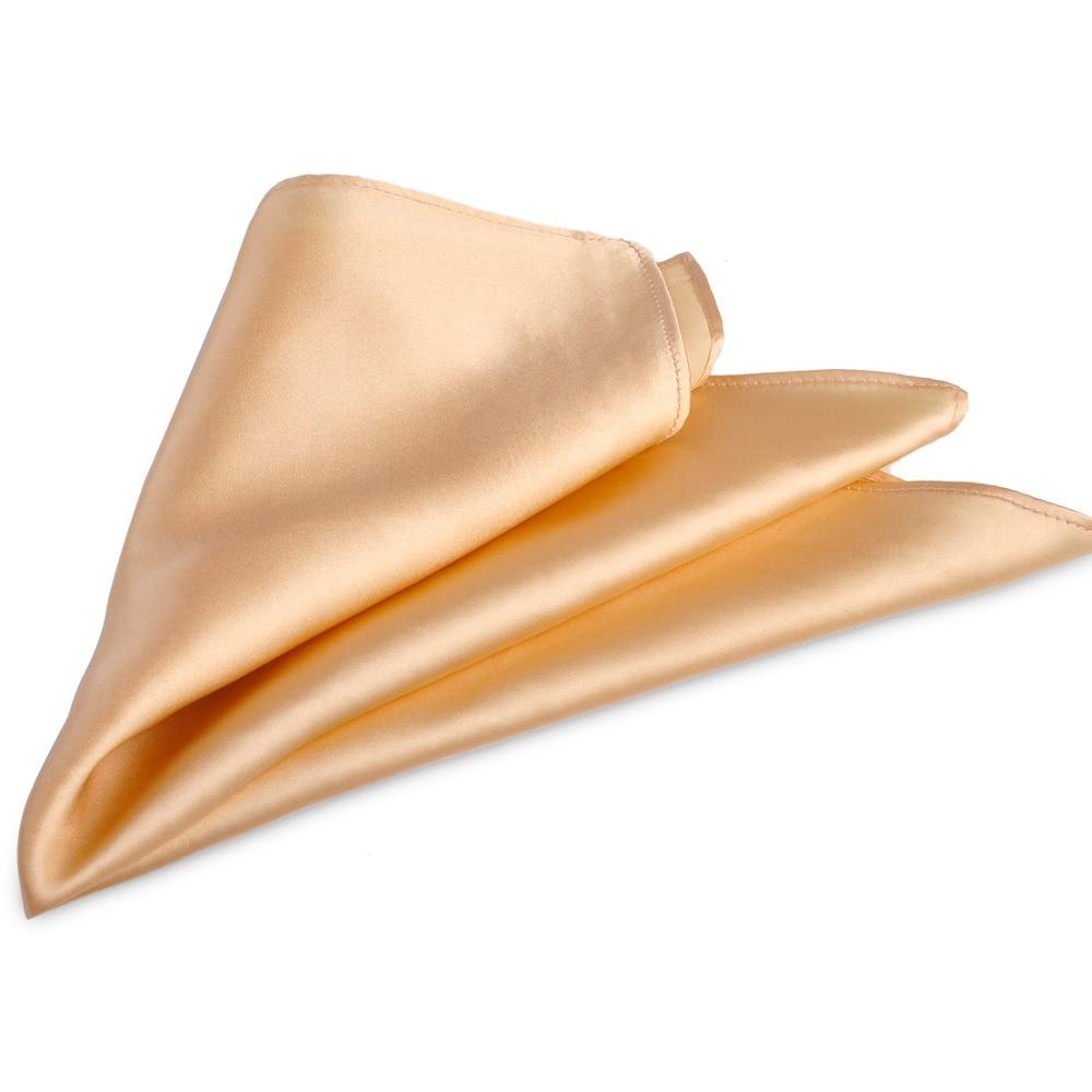 ciciTree 100% Natural Silk Men Pocket Square Men's 35cm Plain Solid - Apparel Accessories - Photo 4